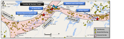 Frontline Acquires Gold Project Northeast  of former Lac Shortt Gold Mine