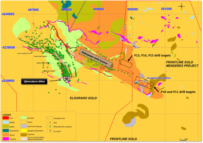 Frontline Announces Drill Contract for Menderes Gold Project, Located in SW Region of Turkey